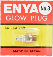 4 x Enya No.3 Glow Plug (hot) 1.5v-1.3v japan ( 4 piece )