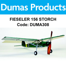 DUMAS 308 FIESELER 156 STORCH 30 INCH WINGSPAN RUBBER POWERED RUBBER POWERED RUBBER POWERED