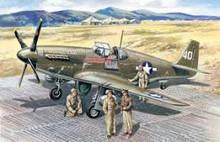 1:48 MUSTANG P-51B W/ USAAF PILOTS&G.P