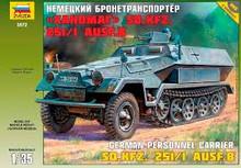 ZVEZDA 3572 1/35 HANOMAG SD.KFZ.251/1 AUSF.B PLASTIC MODEL KIT