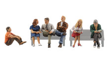 People Sitting - HO Scale
