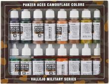 VALLEJO 70179 PANZER ACES PANZER ACES CAMOUFLAGE 16 COLOUR ACRYLIC PAINT SET