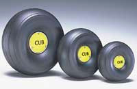 "1/4 Scale Trded Lightweight J-3 Cub Wheels (4-1/4"" Dia.) (QTY/PKG: 2 )"
