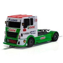 SCALEXTRIC RACING TRUCK - RED & GREEN & WHITE