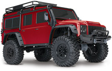 TRAXXAS TRX-4 SCALE & TRAIL CRAWLER LAND ROVER - RED