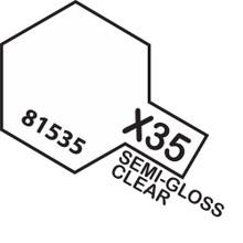 TAMIYA ACRYLIC MINI X-35 SEMI GLOSS CLEAR
