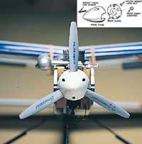 "3"" Three Blade Spinner White (QTY/PKG: 1 )"
