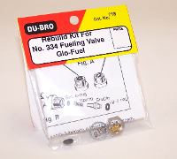 DUBRO 718 REBUILD KIT #334 FUEL VALVE GLO (1 PC PER PACK)