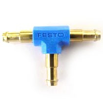 Festo Internal Brass T Connector - Suit 3mm Tube OD (Pair)