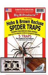BigH ProductsTM Hobo & Brown Recluse Spider Trap - 1 package 5 each
