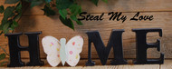 """Unfinished """"O"""" Letter - HOME Series (Butterfly)"""