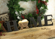 "Unfinished ""O"" Letter - HOME Series (Manger)"