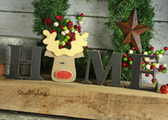 "Unfinished ""O"" Letter - HOME Series (Rudolph)"