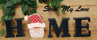 """Unfinished """"O"""" Letter - HOME Series (Santa Head)"""