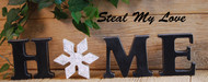 """Unfinished """"O"""" Letter - HOME Series (Snowflake)"""