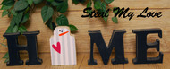 """Unfinished """"O"""" Letter - HOME Series (Snowman)"""