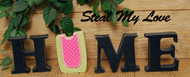 """Unfinished """"O"""" Letter - HOME Series (Watermelon)"""