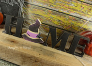 "Unfinished ""O"" Letter - HOME Series (Witch Hat)"