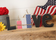 "Unfinished ""O"" Letter - LOVE Series (Firecrackers)"