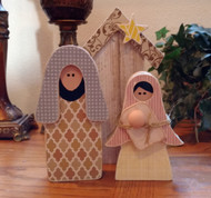 "Unfinished ""O"" Letter - LOVE Series (Nativity)"