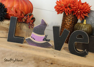 "Unfinished ""O"" Letter - LOVE Series (Witch Hat)"