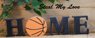 "Basketball - Unfinished ""O"" Letter - HOME & LOVE Series"
