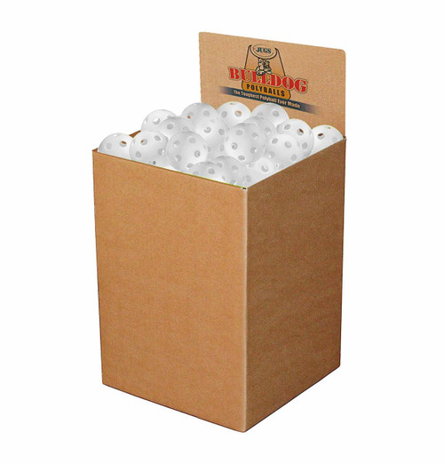 White Polyball - Bulk box of 100 (Jugs Sports version of wiffle balls except stronger)