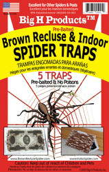 Big H Products - Brown Recluse & Indoor Spider Traps - Case of 24 Packages