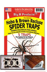 Big H Products - Hobo & Brown Recluse Spider Traps - Case of 24 Packages