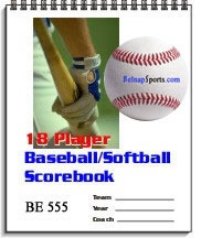 Belnap Sports Baseball/Softball18 Player Scorebook