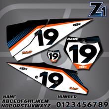 KTM Z1 Number Plates