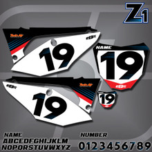 Honda Z1 Number Plates