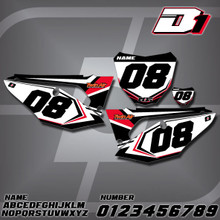 Honda D1 Number Plates
