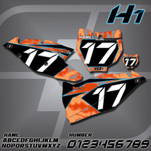 KTM H1 Number Plates