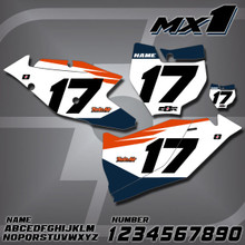 KTM MX1 Number Plates