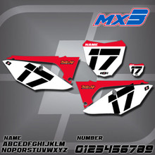 Honda MX3 Number Plates