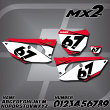 Honda MX2 Number Plates
