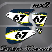 Husqvarna MX2 Number Plates
