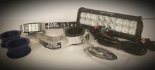 "10"" Hardwired Light Bar & Factory Baja Gore Fork Mount Kit"