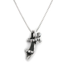 Sterling Silver Strappy Sandals Chain Necklace