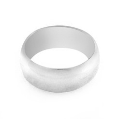 Sterling Silver 8 mm Wide Band Ring
