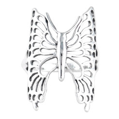 Large Sterling Silver Butterfly Ring