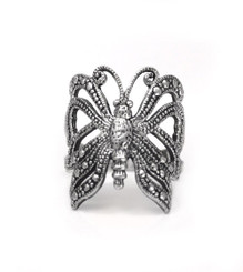 Sterling Silver Vintage Butterfly Ring