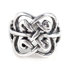 Sterling Silver Clover Celtic Knot Ring