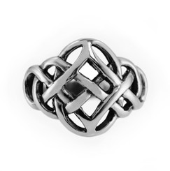 Sterling Silver Oval Center Celtic Knot Ring