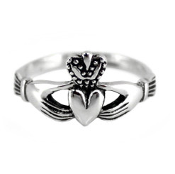 Sterling Silver Claddagh Friendship Ring