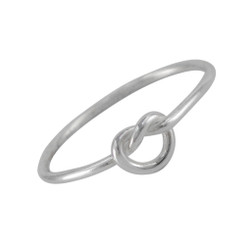 Sterling Silver Love Knot Ring Sized Toe Ring Finger Ring Midi Knuckle Ring
