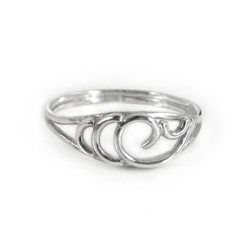 Sterling Silver Wave Swirl Ring