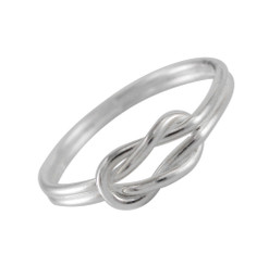 Sterling Silver Square Knot Sized Toe Ring Finger Ring Midi Knuckle Ring
