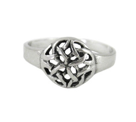 Sterling Silver Circle Celtic Knot Adjustable Toe Ring